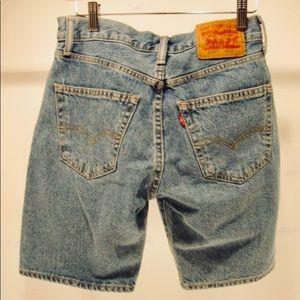 Vintage Levi 505 Biker Shorts